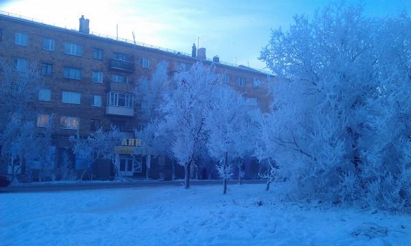 カザフスタンの冬景色