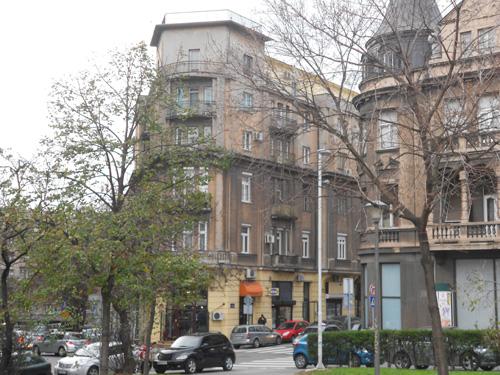 ベオグラード旧市街の一風景