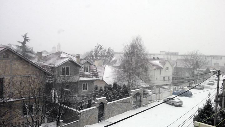 ベオグラード初雪