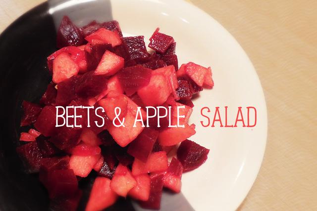 ビーツとリンゴのサラダ