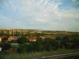マケドニア旅行 バスからの眺め