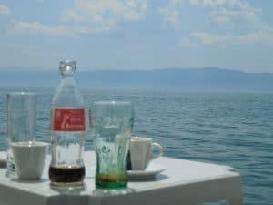 オフリド湖畔